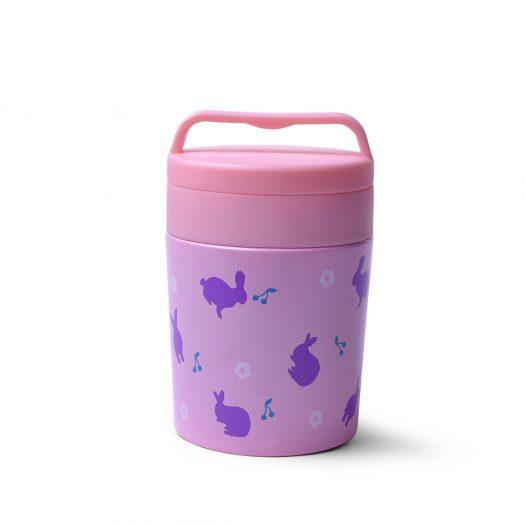 Pink Double wall vacuum food jar 350 ml (stainless steel)