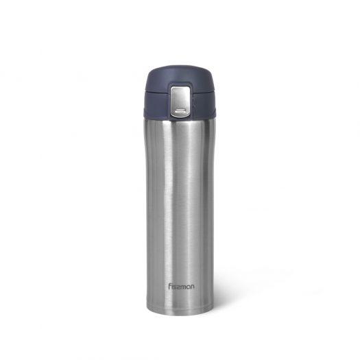 Grey Double wall vacuum travel mug 420 ml (stainless steel)