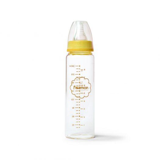 Yellow Feeding bottle 240 ml (borosilicate glass)