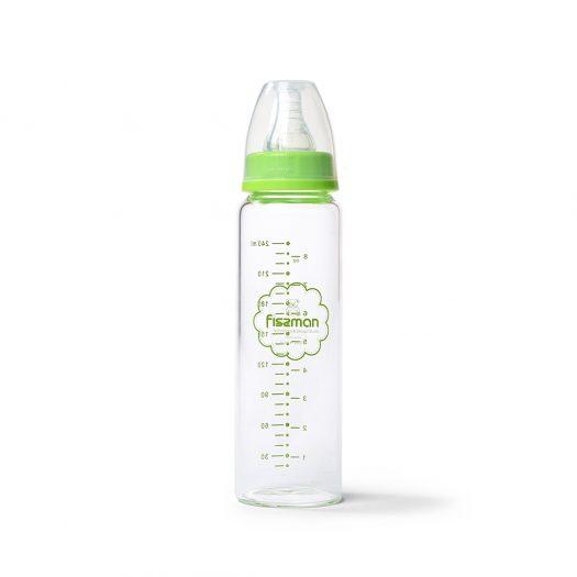 Green Feeding bottle 240 ml (borosilicate glass)