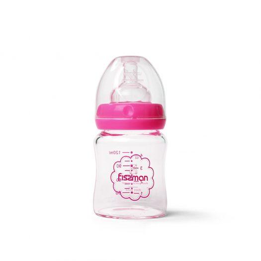 Feeding bottle with wide neck 120 ml (borosilicate glass)