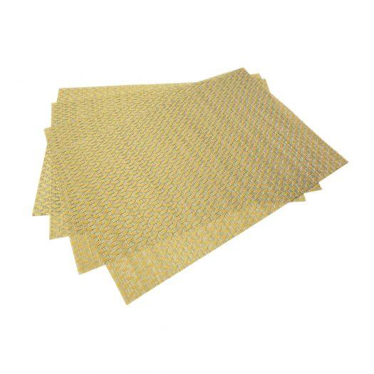 Set of 4 pcs PVC woven placemats 45x30 cm