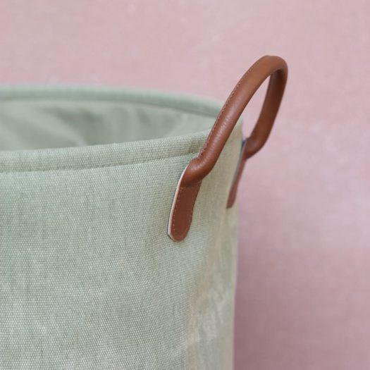 York – Laundry basket – Sage green